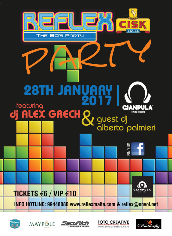 Reflex 80's Party at Gianpula - 28th January 2017