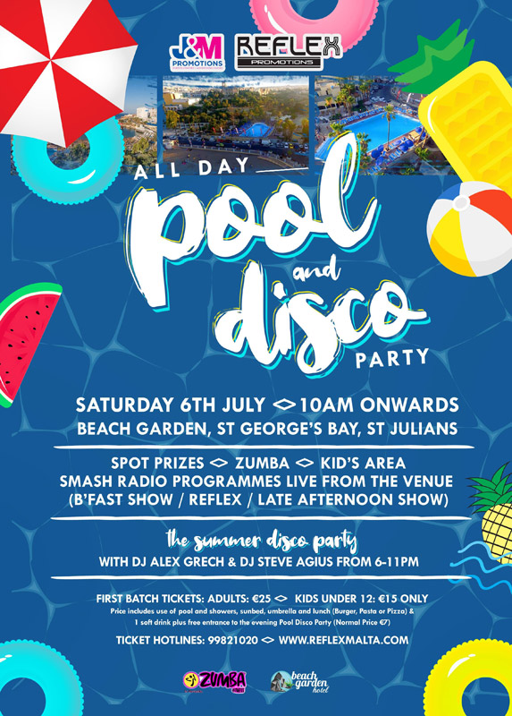 All Day Pool And Disco Party - 6th July 2019