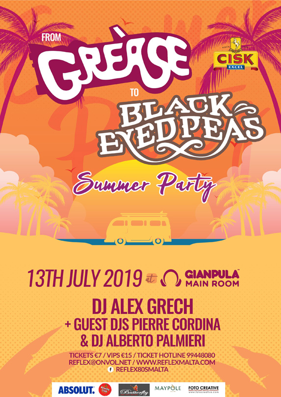 From Grease to Black Eyed Peas - 13th July at Gianpula