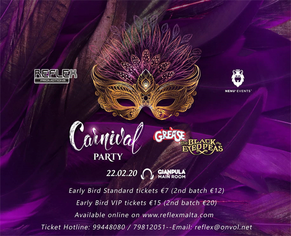 Carnival Party - From Grease to Black Eyed Peas at Gianpula 22nd February 2020