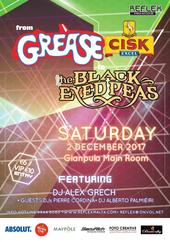 From Grease to Black Eyed Peas - 2nd December 2017 at Gianpula
