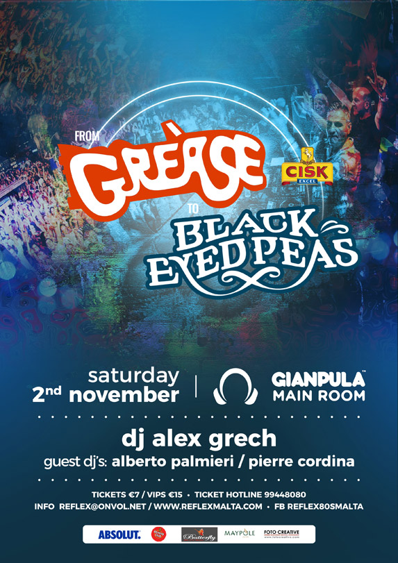From Grease to Black Eyed Peas - 2nd November 2019 @ Gianpula