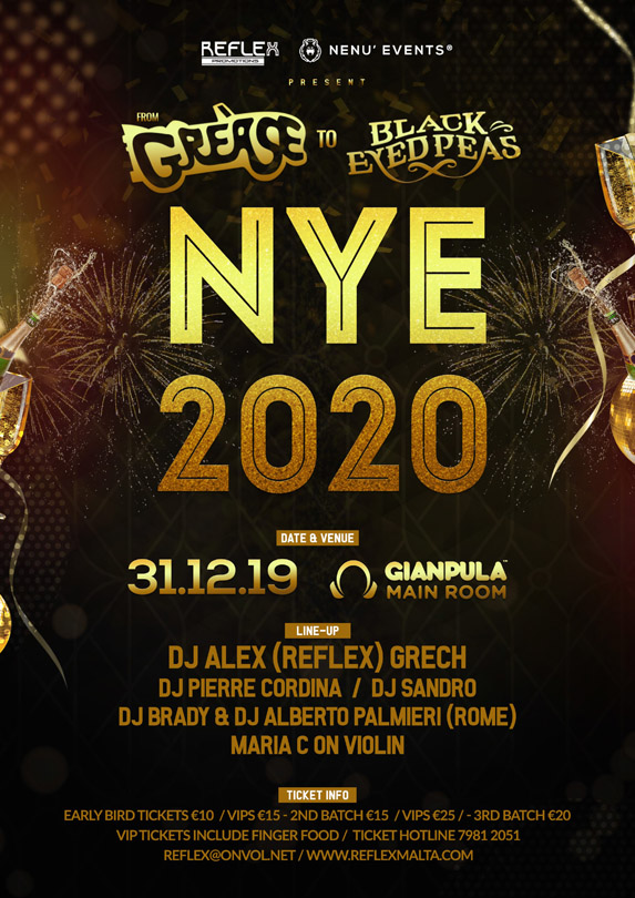 NYE 2020 - From Grease to Black Eyed Peas @ Gianpula